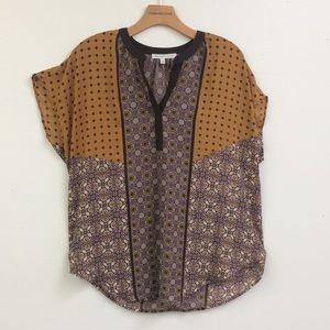 Daniel Rainn Silky Semi-Sheer Blouse Size L